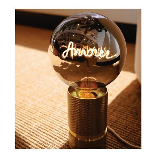 """MITB - Grosse ampoule LED à message """"Amour"""" ambre"""