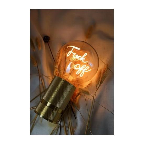 """MITB - Ampoule LED à message """"Fuck Off"""" ambre"""