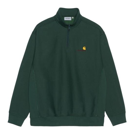 Carhartt WIP - Sweat vert à col zippé homme