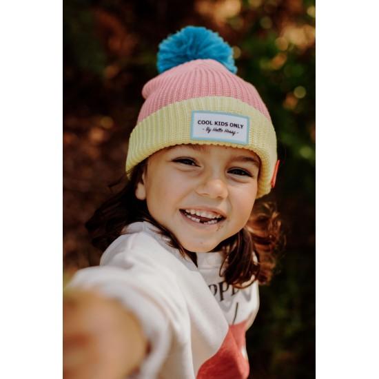 Hello Hossy - Bonnet Enfant à pompon rose