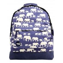 Mi Pac - Sac à dos bleu motif éléphants