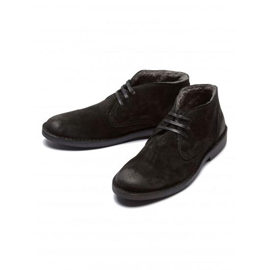 Selected - Desert boots en daim noir