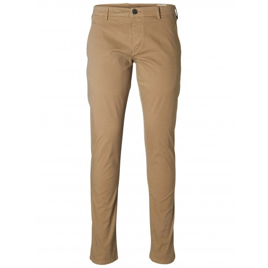 Selected homme - Pantalon chino beige sable