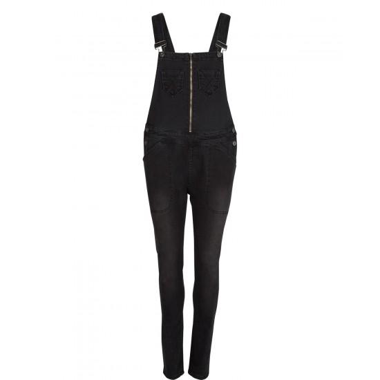 Numph - Salopette jeans noir