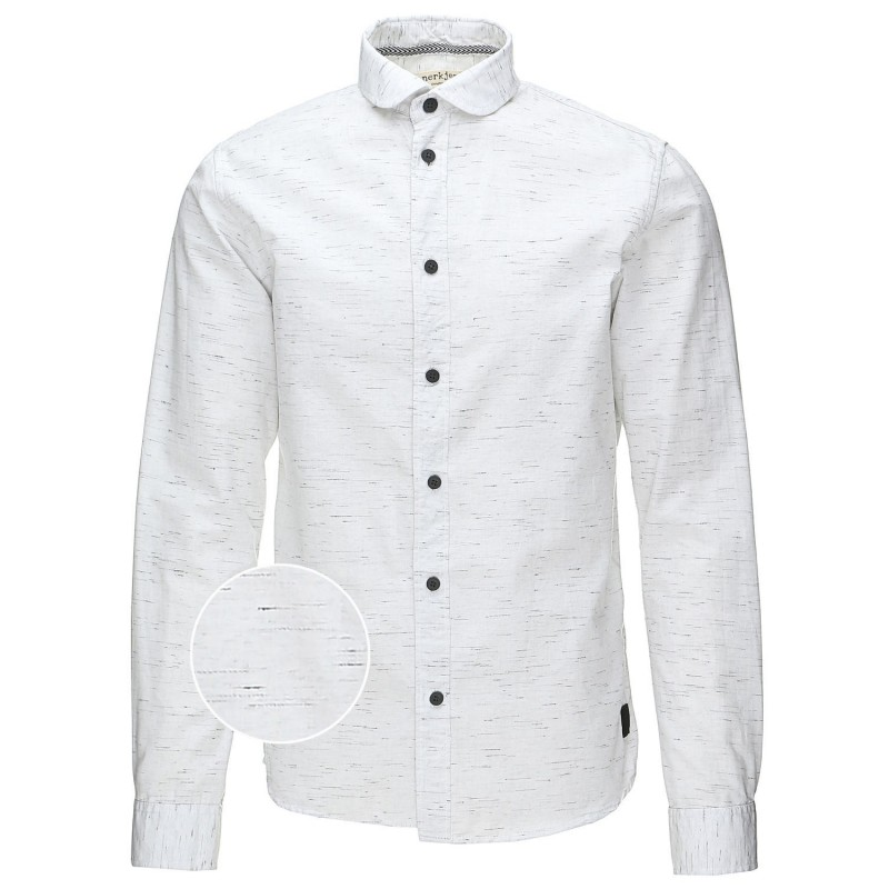 anerkjendt chemise blanche en coton mouchet noir. Black Bedroom Furniture Sets. Home Design Ideas