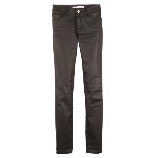 Lab Dip - Pantalon noir delavage enduit skinny