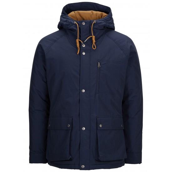 Selected - Manteau marine capuche contrasté