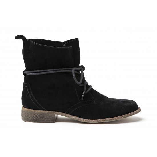 Vero Moda - Boots montantes daim noir
