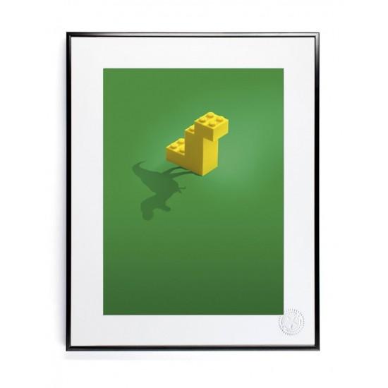 Affiche pub Dinosaure Nanoblock 30x40 - Image Republic