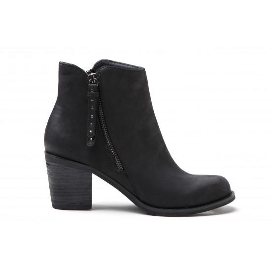 Vero Moda - Chaussures à talon montantes noir zippée