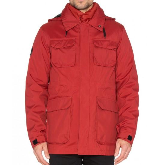 Bellfield - Manteau rouge 3en1 à capuche