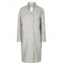 Nümph - Manteau long gris pour femme