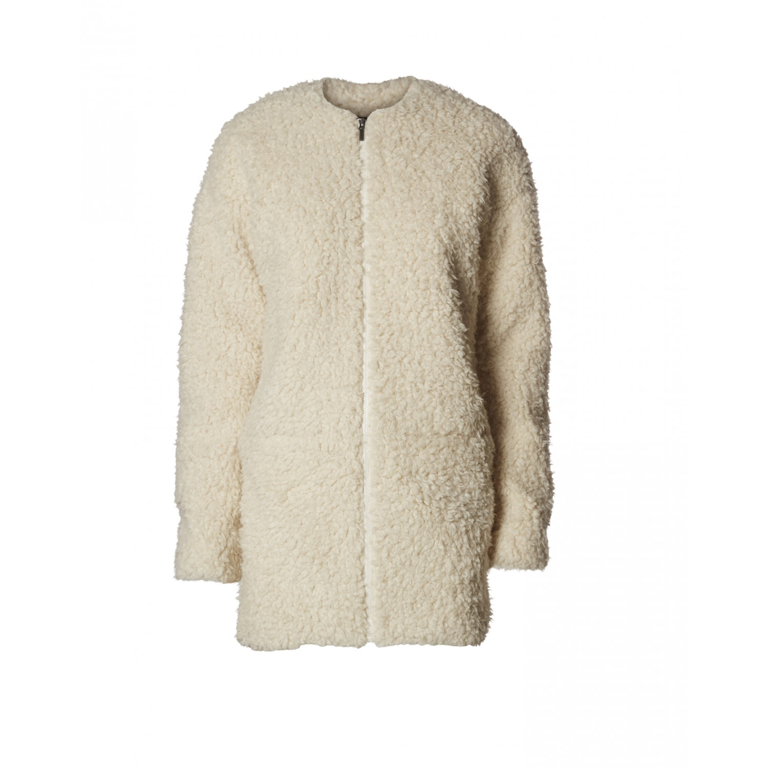 Super Minimum - Manteau mouton blanc pour femme FI74