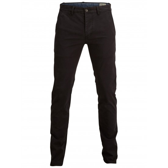 Selected homme - Pantalon chino noir skinny