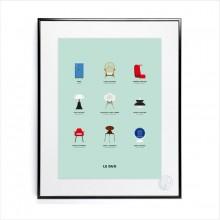 Affiche Le Duo Design 30x40 - Image Republic