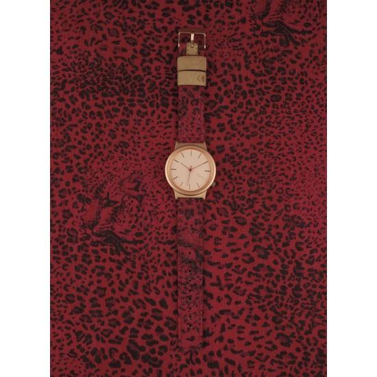 Komono - Montre Wizard Print Leopard Rouge