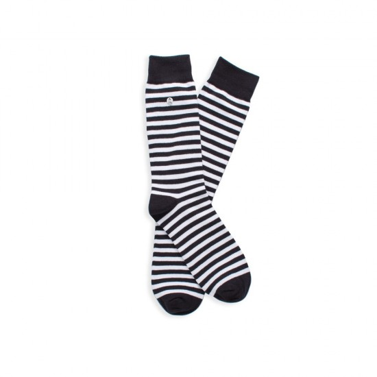 Alfredo Gonzales - Chaussette Stripes black and white