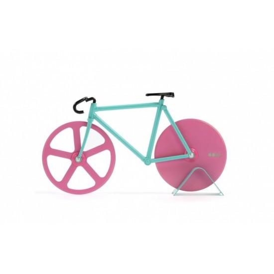 DOIY - Couteau à pizza vélo fixie rose et vert