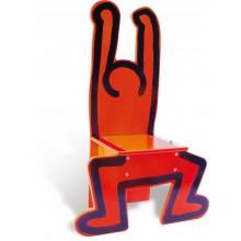 Vilac - Keith haring Chaise enfant en bois rouge