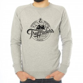 a3db5d9a9e66c Marcel et Maurice   Sweat-shirt col rond homme gris chiné Truffaders ...