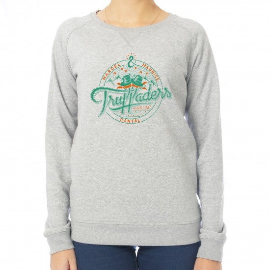 Sweat femme Truffaders vert et orange