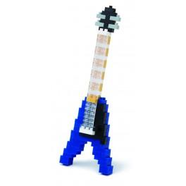 Nanoblock - Guitare éléctrique bleu