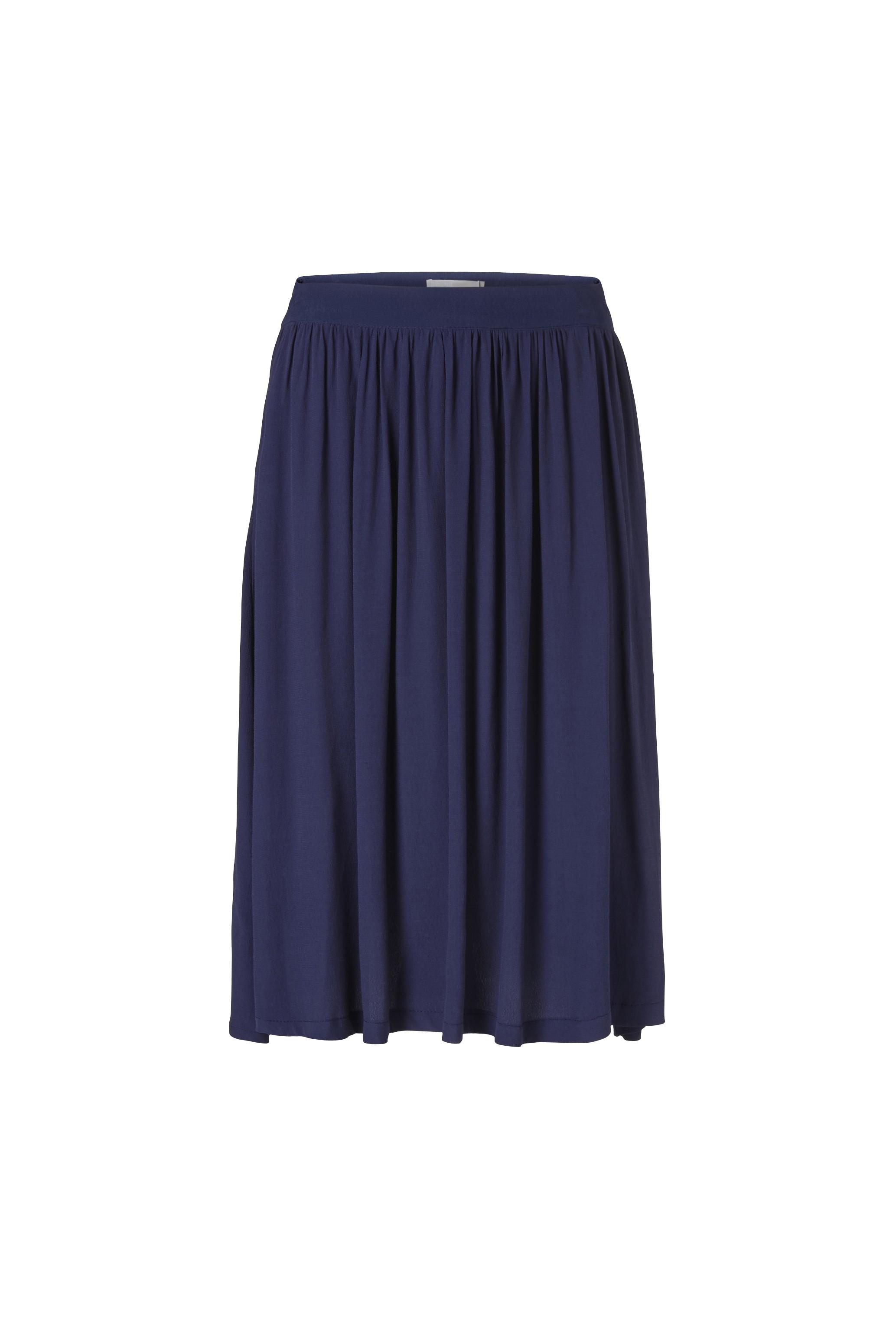 Minimum Couleur Longue Bleu Jupe De m80vNnw