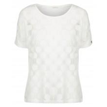 Nümph - T-shirt transparent à gros pois blancs