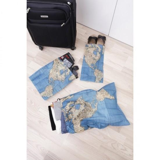 Kikkerland - Set de 4 sacs de rangement pour voyageur
