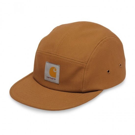 Carhartt - Casquette marron five panel backley cap
