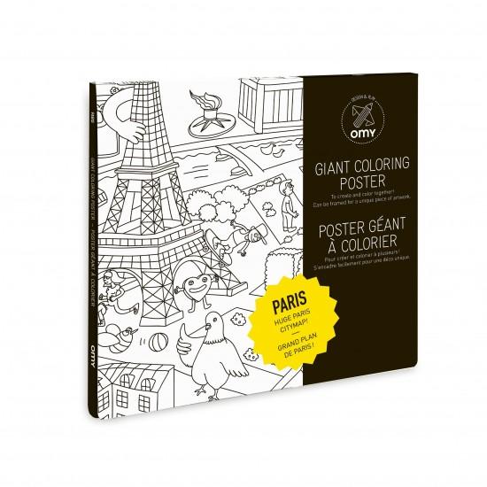Omy - Grand poster à colorier paris