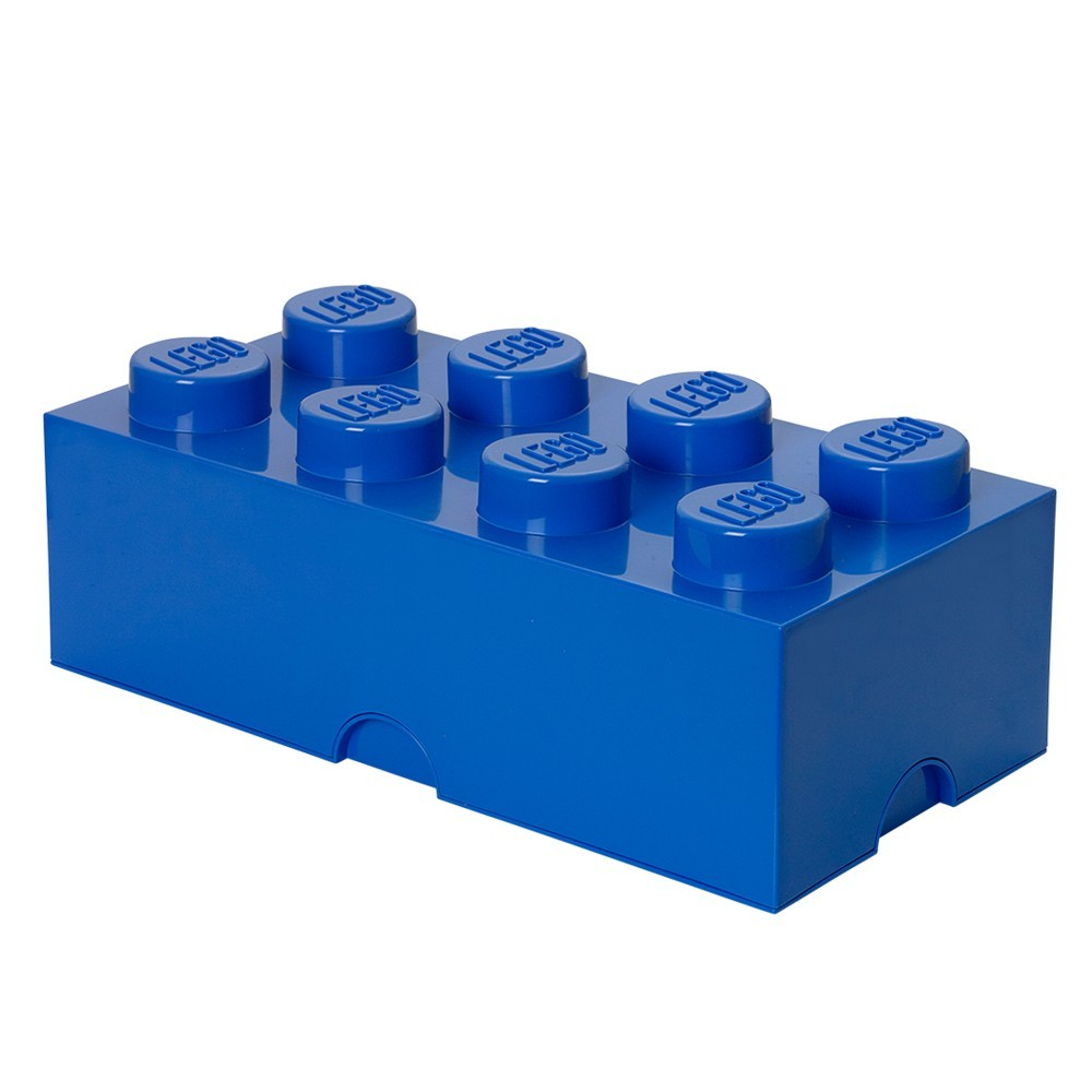 Lego bo te de rangement bleu marcel et maurice - Brique de rangement lego grand modele ...
