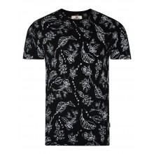 Bellfield - T-shirt noir imprimé fleurs