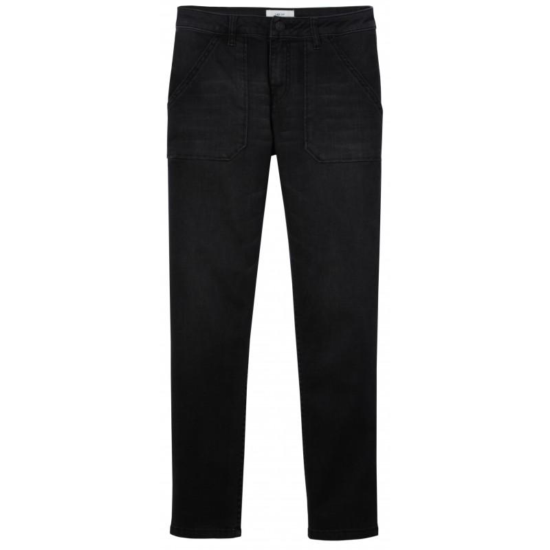 df76b83568a3 Lab Dip   Jeans noir stretch poches plaquées pour femme