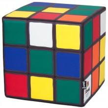 Woouf - Pouf imprimé en forme Rubiks cube