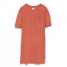 Loreak Mendian - Robe t-shirt rouge avec poche coeur