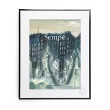 Affiche Sempé Quartier de Nuit30x40 - Image Republic