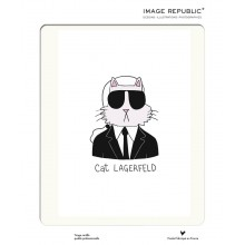 Affiche Tiffany Cooper Cat Lagerfeld  30x40 - Image Republic