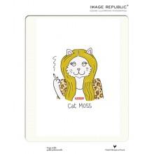 Affiche Tiffany Cooper Cat Moss  30x40 - Image Republic