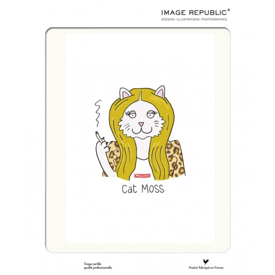 Affiche Tiffany Cooper Cat Moss 30x40 - Image Republic
