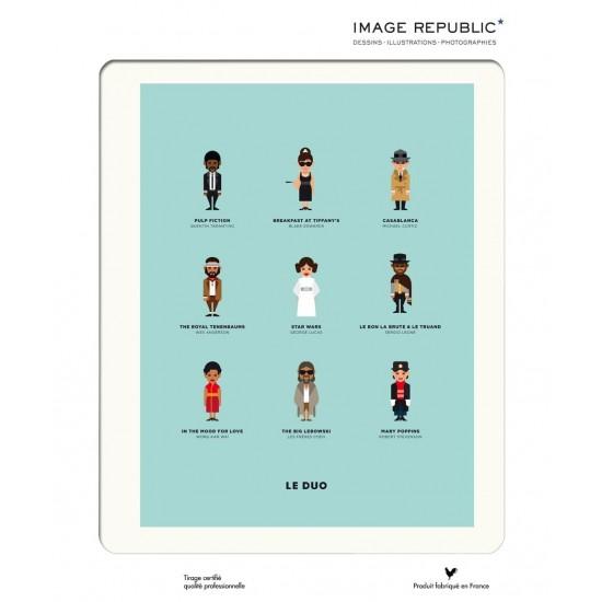Affiche Le Duo Cineculte 30x40 - Image Republic