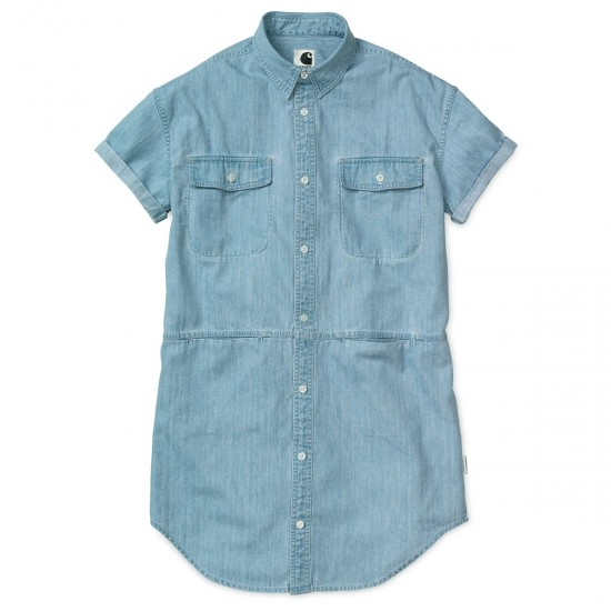Carhartt - Robe chemise jean clair