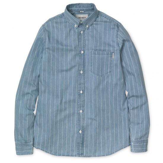 Carhartt - Chemise bleu clair à motif