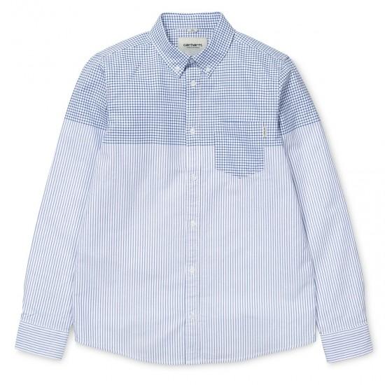 Carhartt - Chemise blanche à carreaux et rayures