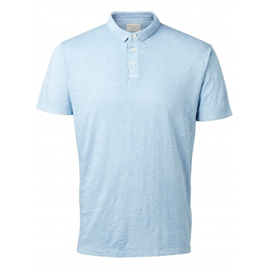 Selected - Polo bleu clair