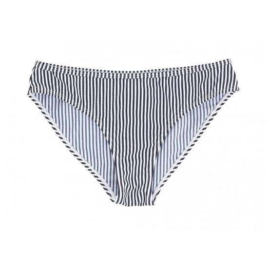 Ichi - Bas de mayo de bain rayé blanc et bleu