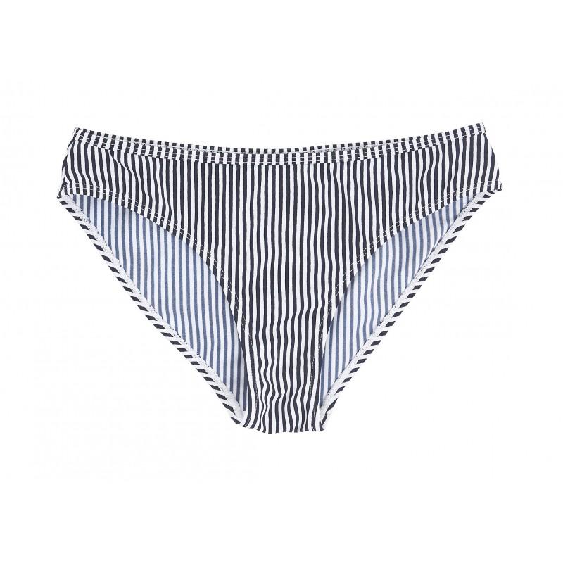 75361d5775 Ichi - Bas de mayo de bain rayé blanc et bleu. Loading zoom