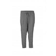 Minimum - Pantalon fluide à motifs noir et blanc