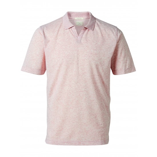 Selected - Polo rose chiné