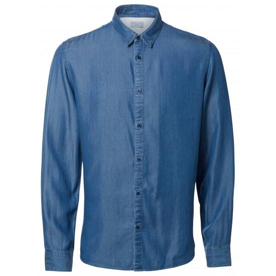 Selected homme - Chemise en jean bleu clair